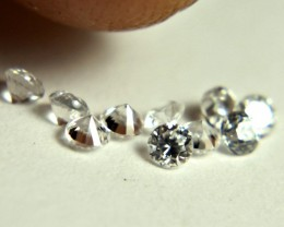 0.51 Tcw. White Zircon VVS Accent Gems - Beautiful