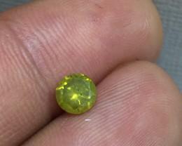 Marvelous 0.61ct. Round Yellow Diamond