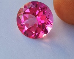 5.85 CTS SUPERIOR! TOP 11.0 MM ROUND CUT HOT PINK-TOPAZ GENUINE NR!!