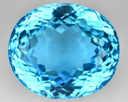43.90 Cts Natural Blue Topaz Oval Cut Brazil Gem
