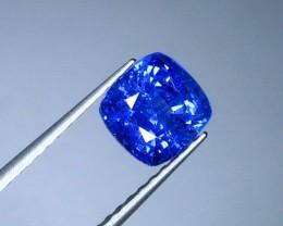 Natural Certified Vivid Blue Sapphire - 2.53 Ct. Cushion (00370)