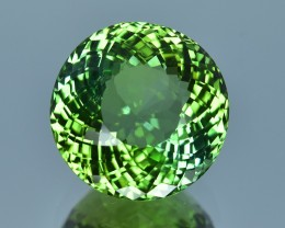 11.58 Cts Superb Natural Attractive Round Shape Green Tourmaline