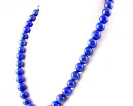 Genuine 713.50 Cts Round Shape Blue Lapis Lazuli Beads Necklace - Wow