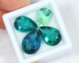 Lot 04 ~ 18.28Ct Natural VS Clarity Greenish Blue Color Fluorite