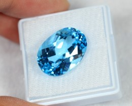 Lot 07 ~ 15.47Ct Natural VS Clarity Swiss Blue Color Topaz