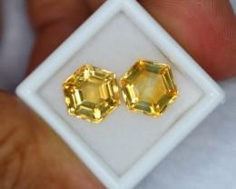 7.91ct Natural Yellow Citrine Fancy Cut Lot GW139
