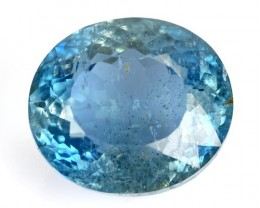4.20 Cts Natural Santa Maria Blue Aquamarine Oval Cut Brazil Gem
