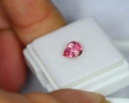 1.00Ct Natural Pink Tourmaline Pear Cut Lot V162
