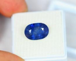 6.46Ct Blue Sapphire Oval Cut Lot LZB26