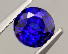 1.08ct Natural Royal Blue Sapphire Round Cut Lot