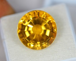 14.77Ct Yellow Citrine Fancy Round Cut Lot LZB21