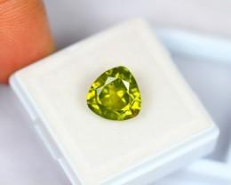 4.73Ct Natural Green Peridot Trillion Cut Lot LZB11