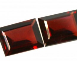 3.5CTS GARNET FACETED NATURAL STONE PAIR TBG-2709