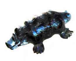 21.85cts Natural Australian Blue Sapphire Platypus Carving