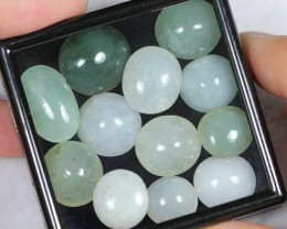 NR Lot 01 ~ 96.08Ct Natural Burmese Type A Jadeite Jade