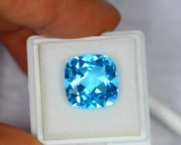 13.16ct Natural Swiss Blue Topaz Cushion Cut Lot GW151