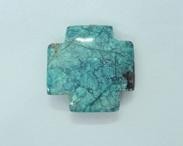 18CT Natural Turquoise Cross Cabochon For Jewelry Making(17112907)