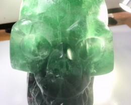 Bright Fluroite Gemstone Skull  PPP 1662