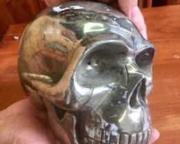 Monster 7 Kilos Pyrite Gemstone Skull  PPP 1666