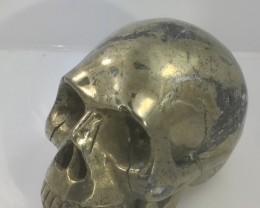 1.25 kilo Pyrite Gemstone Skull  PPP 1667