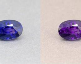 Ceylon Unheated Colour Colour Changing Blue Sapphire 1.10 Ct. (00720)