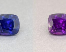Ceylon Unheated Colour Colour Changing Royal Blue Sapphire 2.31 Ct. (00626)