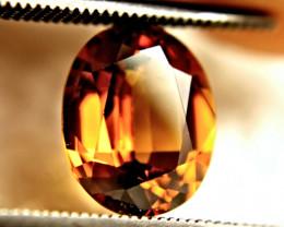 3.53 Carat VVS1 Whiskey Colored Southeast Asian Zircon - Gorgeous