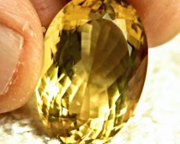 25.33 Carat Vibrant Golden VVS1 Brazil Citrine