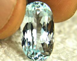 6.7 Carat VVS Himalayan Blue Aquamarine - Gorgeous