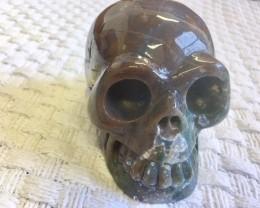 0.77 Kilo  Brown - grey Jasper Gemstone Skull  PPP 1670
