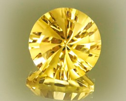 7.21ct Super Sparkling Yellow Gold Natural Citrine Custom cut