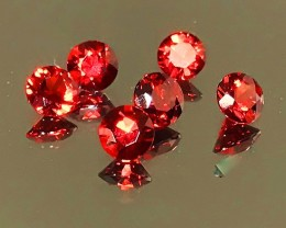 Breath-taking Red Rhodolite Garnet Parcel 6 pieces VVS