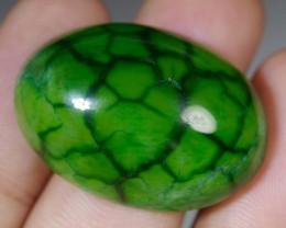 46.20 Ct Natural Beautiful GREEN GOBLIN Dragon Skin Chalcedony Agate