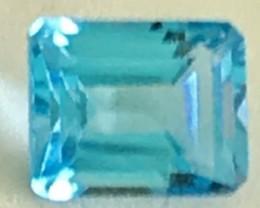 4.15ct Bright Ocean Blue Unheated Topaz - Myanmar - Ref31