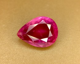 1.54 Crt GIL Certified Unheated Ruby Faceted Gemstone (R 108)