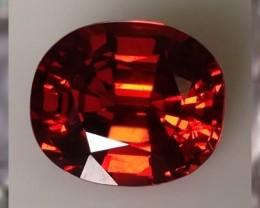 CERTIFIED w 2012 VALUATION OF $1,850~ VVS ~  Flame Red Orange Spessatite ~