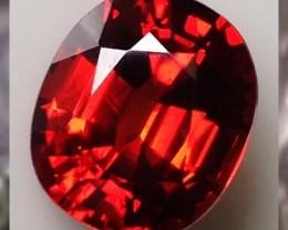 CERTIFIED ~Flame Red Orange Spessatite ~5.06cts ~ VVS ~  Namibia