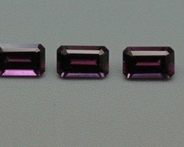GRAPE GARNET PARCEL EMERALD CUT