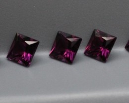 GRAPE GARNET PARCEL PRINCESS CUT