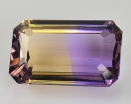5.87 Cts Natural Bi Color Ametrine Octagon Cut Brazil Gem