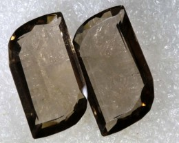 26.65CTS SMOKY QUARTZ NATURAL PAIR TBG-2725