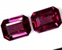 3.75CTS GARNET FACETED NATURAL PAIR TBG-2728