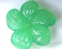 4.55CTS CHRYSOPRASE FLOWER CARVING LG-1876