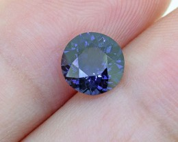 Natural Untreated RARE Round Cobalt Blue Spinel 1.31 Ct.(01179)
