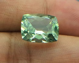 4.75 Crt Natural Green Amethyst Faceted Gemstone (920)