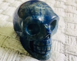 Lapis lazuli grey  Gemstone  Skulls  PPP 1693