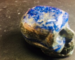 Lapis lazuli  hat shape Gemstone  Skulls  PPP 1696