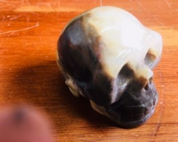 brown black jasper Gemstone  Skulls  PPP 1699