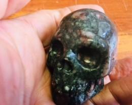 mottly jasper  Gemstone  Skull  PPP 1704