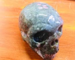 mottly jasper  Gemstone  Skull  PPP 1706